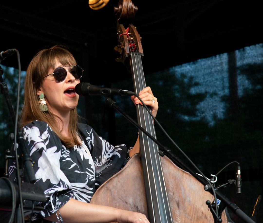 Jazz musician Ellen Andrea Wang performing at Jazz Fest at Nesoddtangen, Norway.