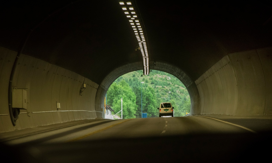The journey to Sveio, Norway, to find Jessie Shiflett's family began with a drive through the mountains and fjords south of Bergen and through a tunnel under the sea. Photo by Jessie Shiflett